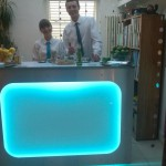 One of Ollie Platt Events' LED Cocktail bars