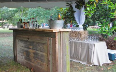 Bespoke wooden wedding mobile bar