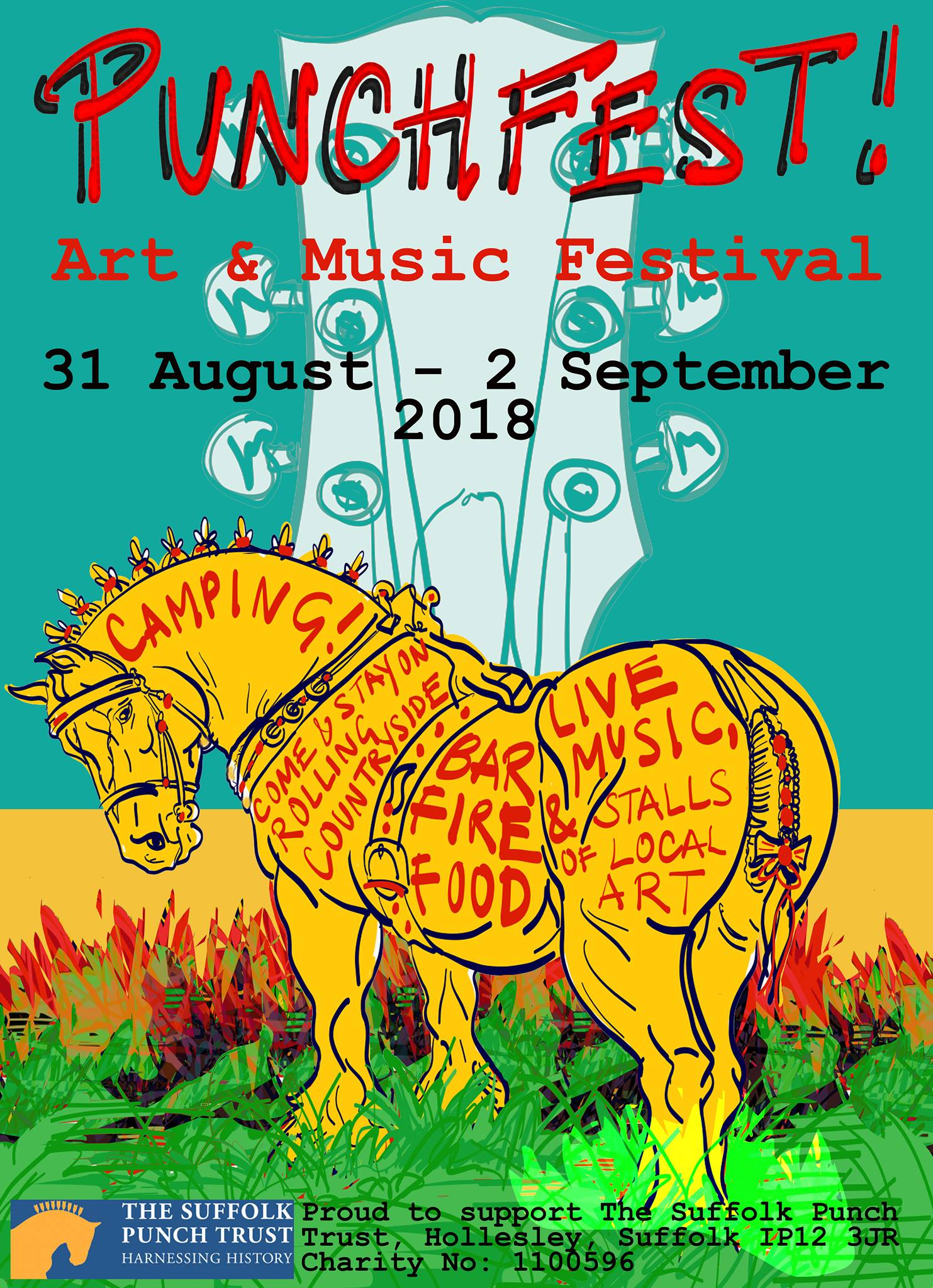 Punchfest Arts & Music Festival 2018: 31 August - 2 September, Hollesley, near Woodbridge.